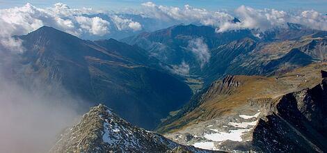 Výhled na celé Taury: Ankogel (3 252 m)