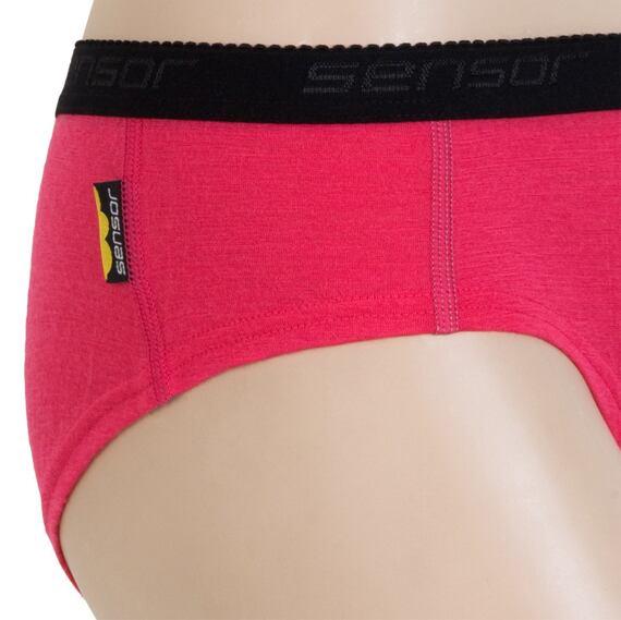 Sensor Merino Wool kalhotky dámské magenta