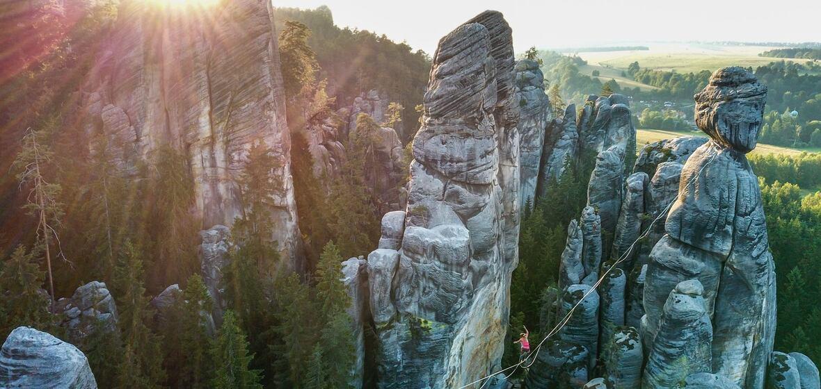 Vysoko míříš! | Highline v Adršpachu