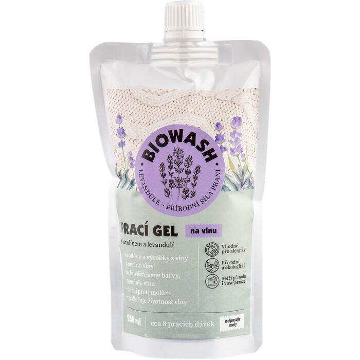 Biowash gel s lanolínem a levandulí na vlnu 250ml